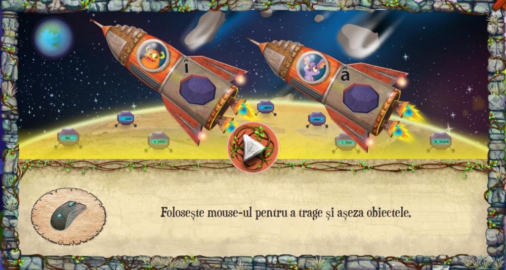 Joaca pe Scoala Intuitext jocul cu meteoriti