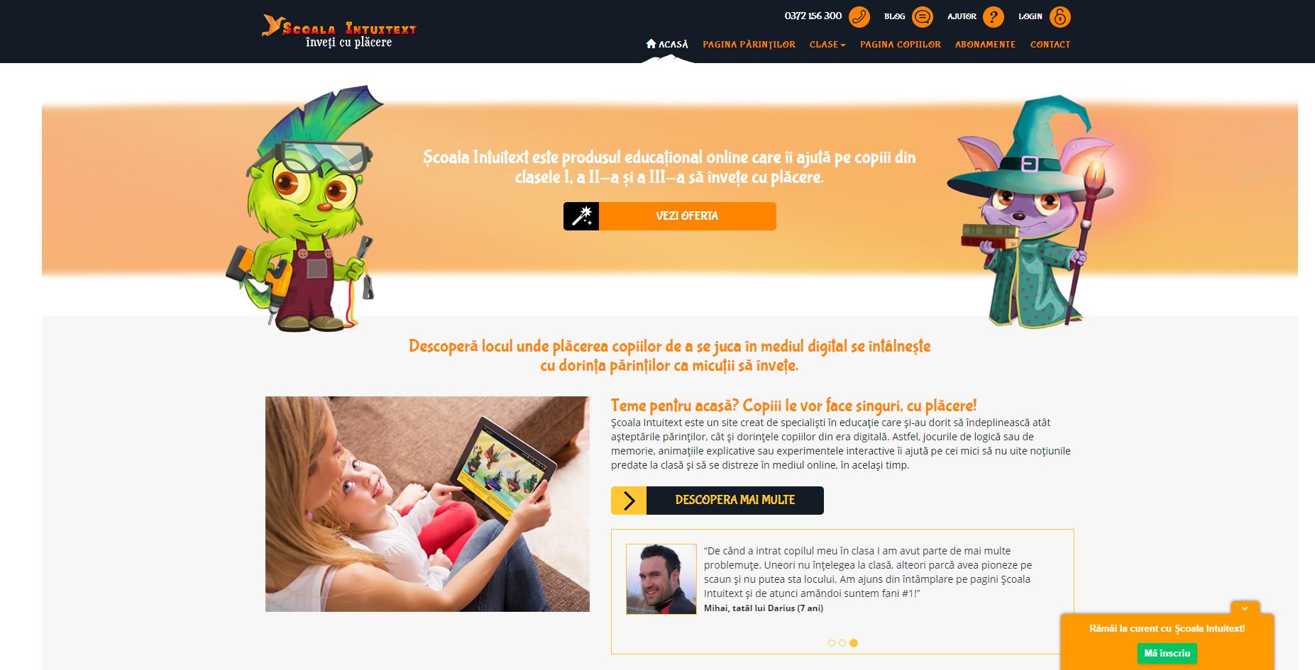 Site-ul educațional Școala Intuitext