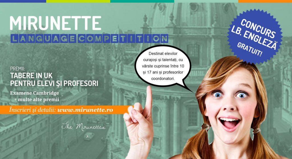 Școala Intuitext susține Mirunette Language Competition