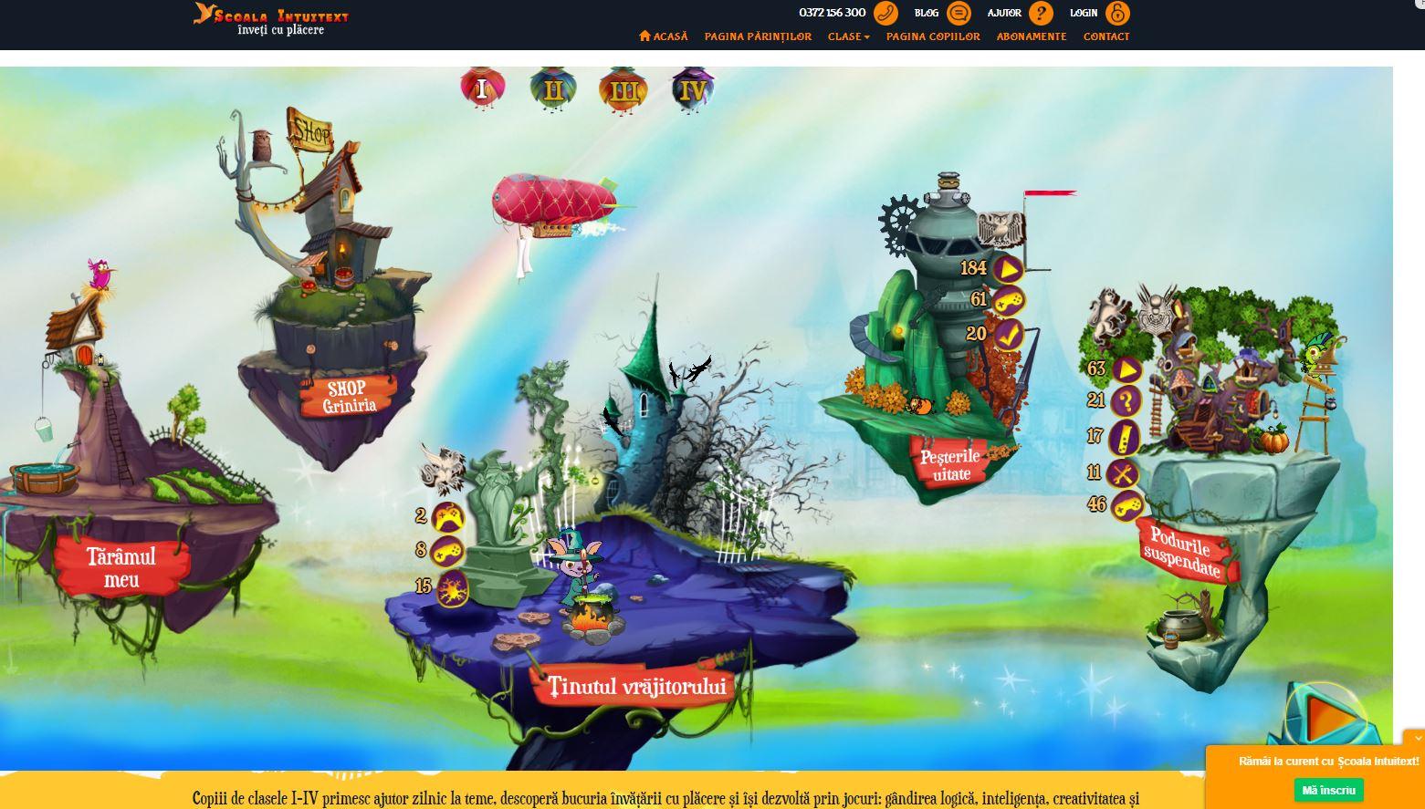 Site-ul educațional Școala Intuitext - Pagina Copiilor