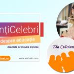 Interviu EXCLUSIV cu ELA CRĂCIUN pentru campania #Părințicelebri-interviuri despre educație