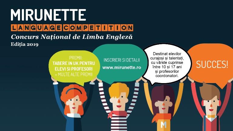 Susținem educația de calitate ! Ultimele zile de înscriere la Mirunette Language Competition